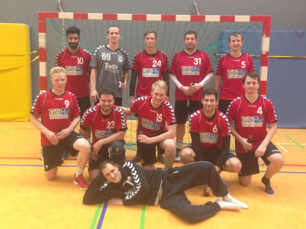 Handball-Team nach dem POT